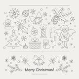 Weihnachtskarte oder -flieger lizenzfreie abbildung