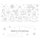 Weihnachtskarte oder -flieger stock abbildung