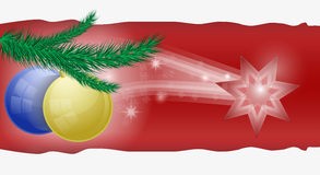 Weihnachtskarte/Schablone Lizenzfreie Stockfotos