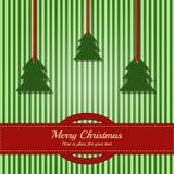 Weihnachtskarte/Schablone Lizenzfreies Stockbild