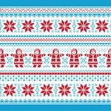 Weihnachtskarte - traditioneller gestrickter Rüttler lizenzfreie abbildung