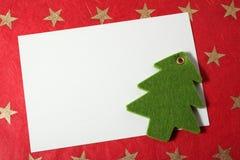 Weihnachtskarte und -dekoration Stockfoto