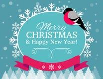 Weihnachtskarte und -hintergrund lizenzfreie abbildung