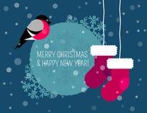 Weihnachtskarte und -hintergrund vektor abbildung
