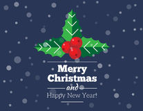 Weihnachtskarte und -hintergrund stock abbildung
