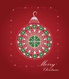 Weihnachtskarte und -muster Stockbild
