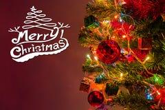 Weihnachtskarte und Weihnachtshintergrund mit festlicher Dekoration Lizenzfreie Stockfotografie