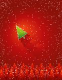 Weihnachtskarte, Vektor Lizenzfreies Stockbild