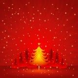 Weihnachtskarte, Vektor Lizenzfreies Stockfoto
