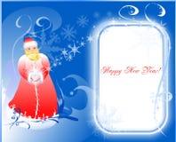 Weihnachtskarte von einer Sankt. stock abbildung