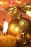 Weihnachtskarte: Weihnachtsdekoration - Fotos auf Lager Lizenzfreies Stockbild