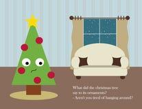 Weihnachtskarte: Weihnachtswohnzimmer Lizenzfreie Stockfotografie