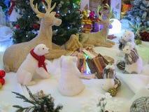 Weihnachtskarte: Winter-Märchenland - Fotos auf Lager Lizenzfreies Stockbild