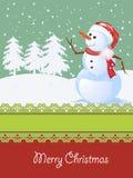 Weihnachtskarte, Winterfeier Lizenzfreies Stockfoto