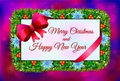 Weihnachtskarten-Feiertagszusammensetzungshintergrund der Vektorillustration Lizenzfreie Stockfotos