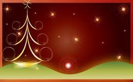 Weihnachtskarten-Geschenkhintergrund-vektorabbildung Stockfoto
