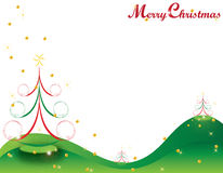 Weihnachtskarten-Geschenkhintergrund-vektorabbildung Lizenzfreies Stockfoto