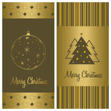 Weihnachtskarten-Hintergrundset Stockfotografie