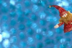 Weihnachtskarten, lustiger Elf mit Exemplarplatz Stockfotografie