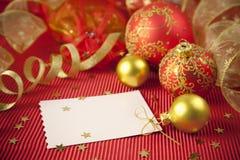 Weihnachtskarten/mit Exemplarplatz Lizenzfreies Stockfoto
