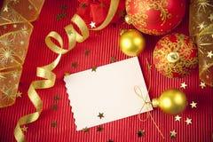 Weihnachtskarten/mit Exemplarplatz Stockfotos