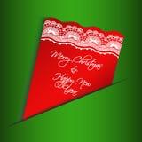 Weihnachtskarten mit Spitze Lizenzfreie Abbildung