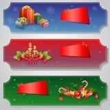 Weihnachtskarten-Satz Lizenzfreies Stockfoto