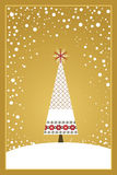 Weihnachtskarten-Serie - Gold Stockbilder