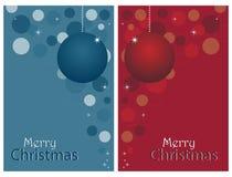 Weihnachtskarten - Set Stockfotos