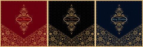 Weihnachtskarten-Umschlagsatz Vektor Lizenzfreie Stockbilder
