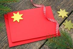 Weihnachtskarten und -dekoration Lizenzfreies Stockbild