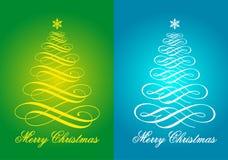 Weihnachtskarten, Vektorsatz Stockbild