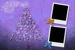 Weihnachtskarten von zwei Fotofeldern Stockfoto