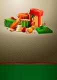 Weihnachtskartenabbildung Stockfotos