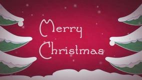 Weihnachtskartenanimation stock video footage