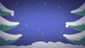 Weihnachtskartenanimation stock video