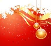 Weihnachtskartenauslegung Lizenzfreie Stockbilder
