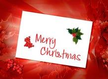 Weihnachtskartenhintergrund Lizenzfreies Stockbild