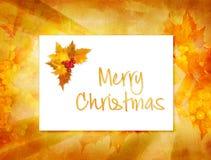 Weihnachtskartenhintergrund Lizenzfreie Stockfotografie