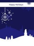 Weihnachtskartenhintergrund Lizenzfreie Stockbilder
