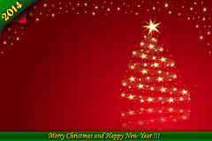 Weihnachtskartenrot lizenzfreie abbildung