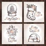 Weihnachtskartensammlung Lizenzfreie Stockbilder