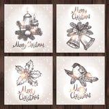 Weihnachtskartensammlung Stockfotos