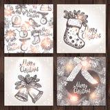 Weihnachtskartensammlung Lizenzfreie Stockfotografie