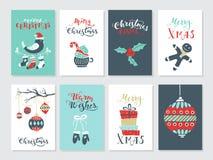 Weihnachtskartensatz stockbilder