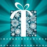 Weihnachtskartenschablone. ENV 8 Stockbild