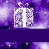Weihnachtskartenschablone. ENV 8 Lizenzfreie Stockbilder