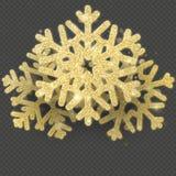 Weihnachtskartenschablone mit glänzenden Goldschneeflocken überlagerte Gegenstand ENV 10 vektor abbildung