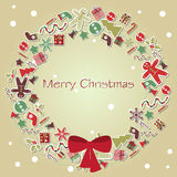Weihnachtskartenvektor Lizenzfreie Stockbilder