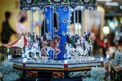 Weihnachtskarussell Stockfotografie